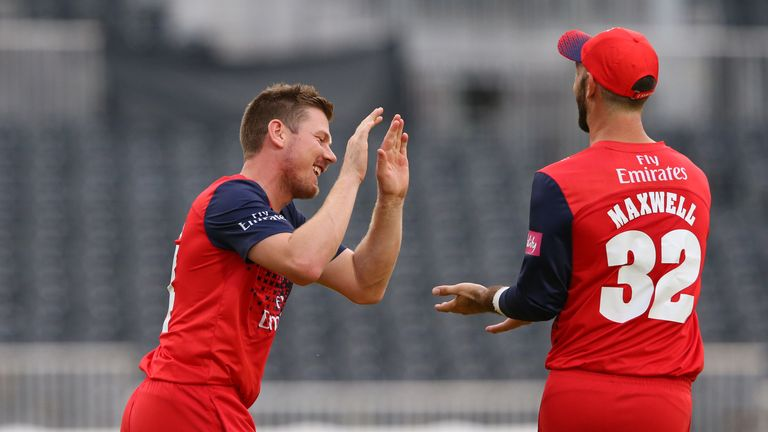 Lancashire's unbeaten start to the Vitality Blast continued with a win over Nottinghamshire on Saturday
