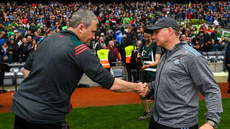 Horan congratulates Jim Gavin at full-time