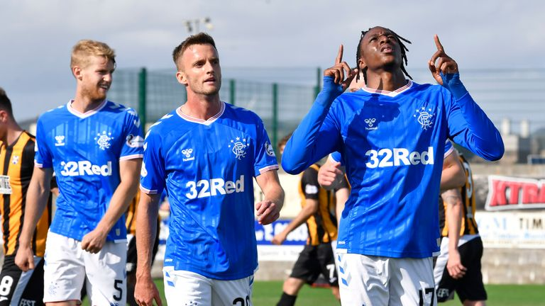 Joe Aribo scored the third Rangers goal and was praised by his manager