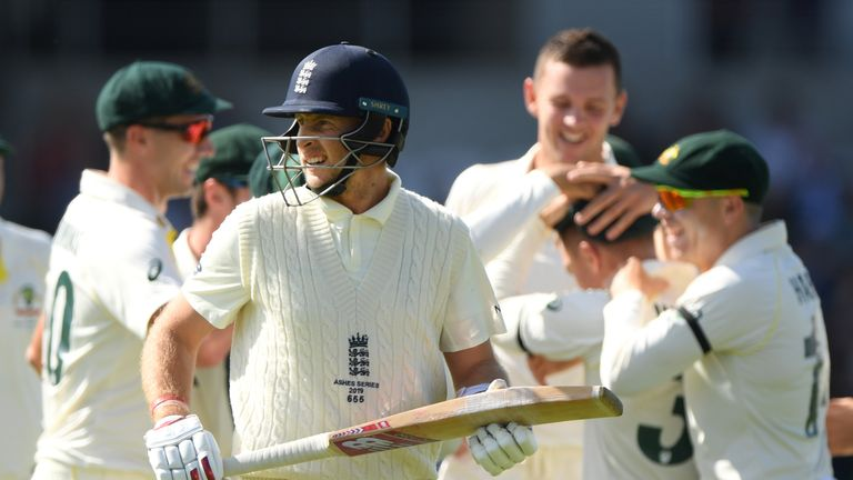 Joe Root was out for a duck in the third Ashes Test on his home ground at Headingley