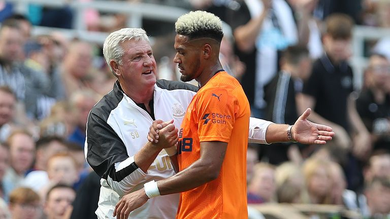 Joelinton has scored just once since becoming Newcastle's record signing but has a faithful supporter in his manager at St James' Park