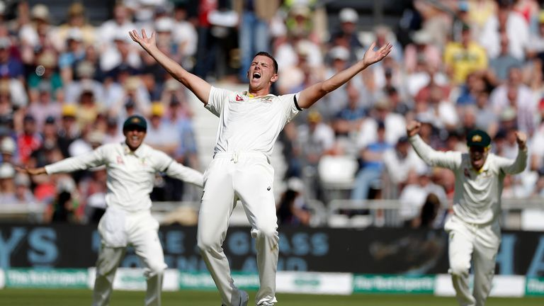Josh Hazlewood bowled brilliantly to take 5-30 as Australia took control