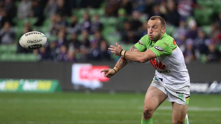 Josh Hodgson came up with a key play for the Raiders as they beat the Storm