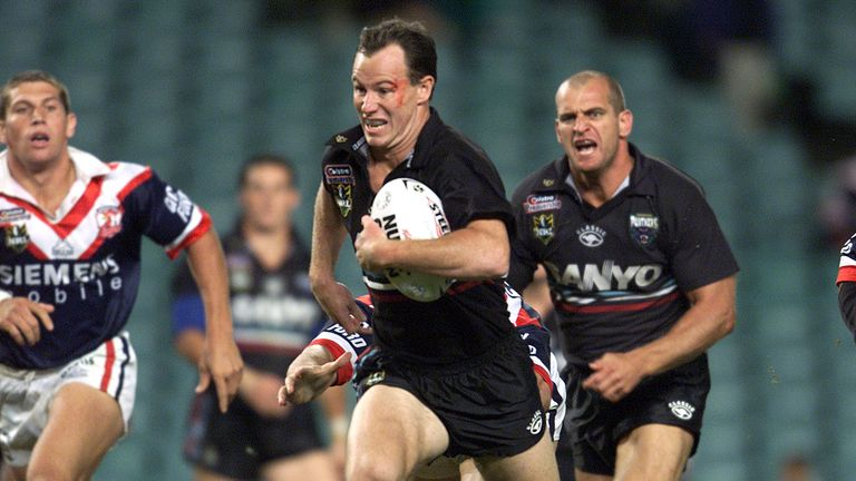 Justin Holbrook in action for Penrith during his playing days