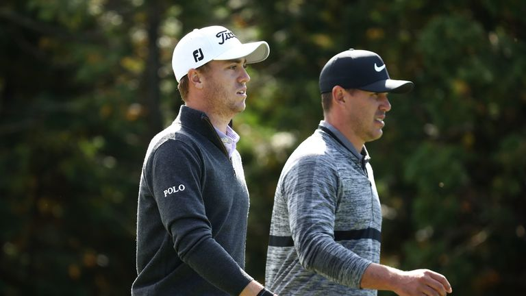 Justin Thomas is No 1 in the FedExCup standings, with Brooks Koepka in third spot