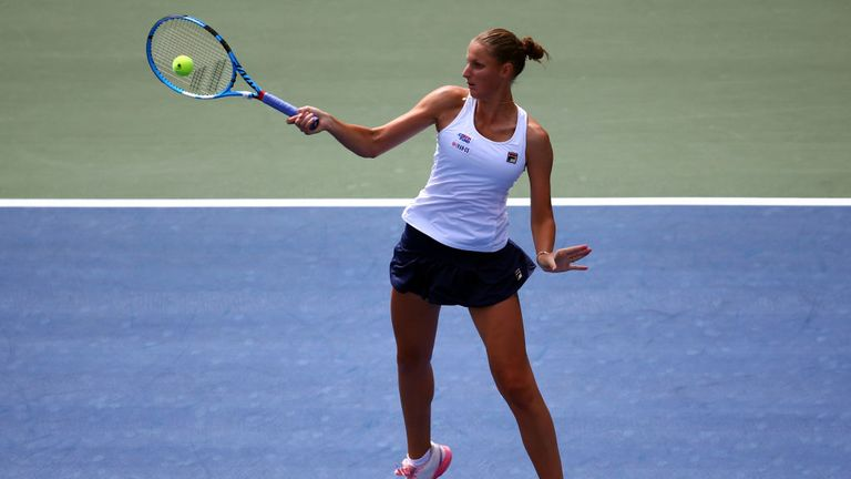 Karolina Pliskova is also in the race to become the new world No 1 on Monday