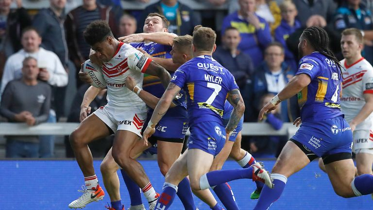 Kevin Naiqama proved tough for Leeds to contain