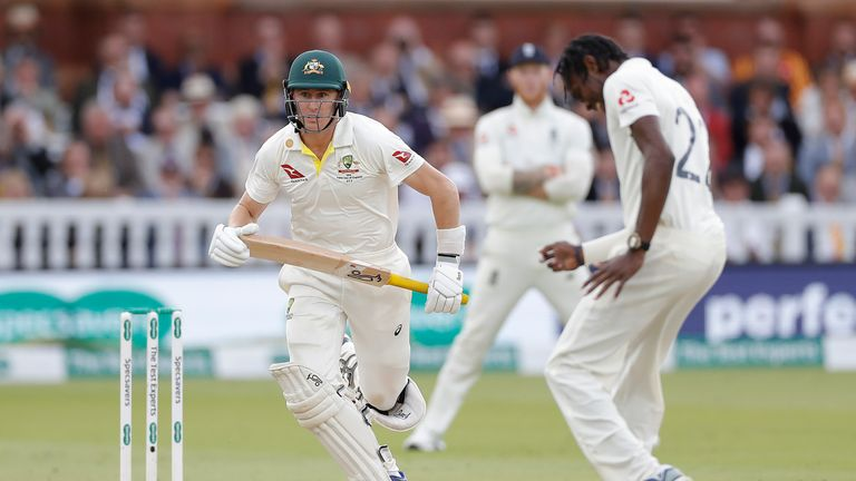 Marnus Labuschagne scored 59 as Smith's concussion substitute at Lord's