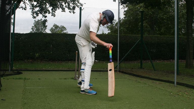 Lachlan started playing cricket again in his 30s in his adopted city of Birmingham, after several years away from the wicket
