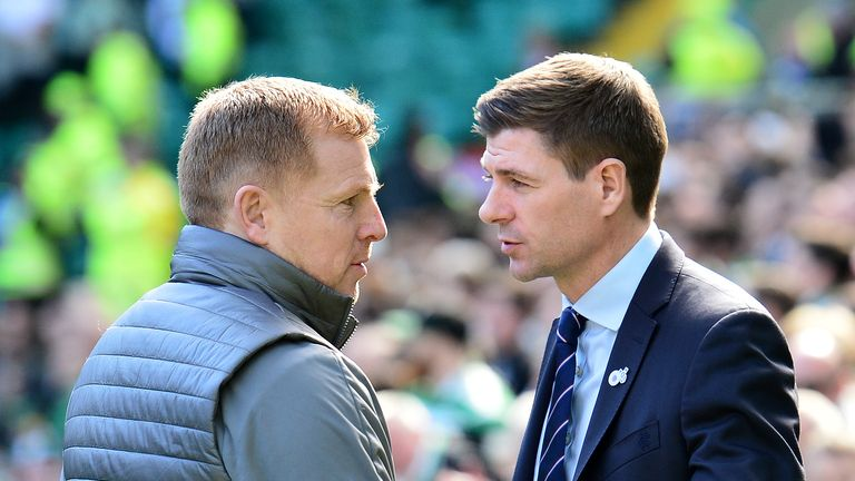Neil Lennon and Steven Gerrard will go head-to-head live on Sky Sports in 2020