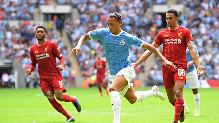 Leroy Sane suffered an ACL injury during Manchester City's Community Shield win over Liverpool