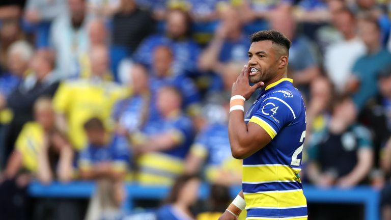 Luther Burrell made his Super League debut for Warrington Wolves