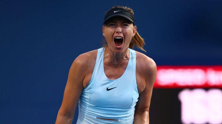 Sharapova was victorious in her first-round clash