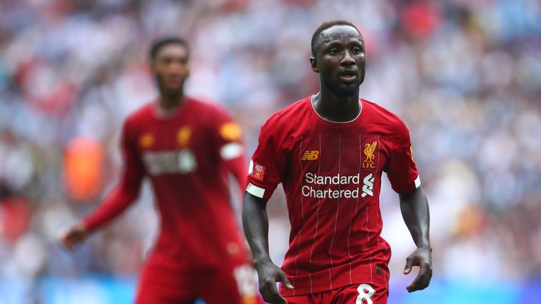 Naby Keita limped out of training on the eve of Wednesday's match in Istanbul