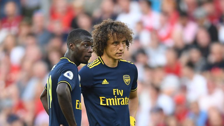 Nicolas Pepe and David Luiz were at the centre of everything Arsenal did well, and not so well, at Anfield