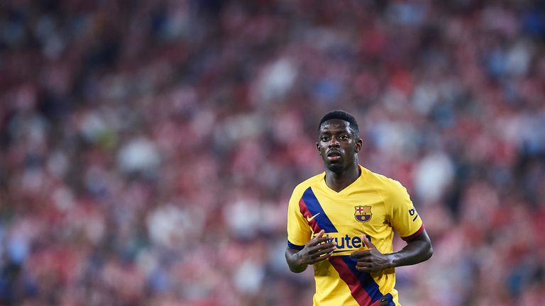Ousmane Dembele has started only three La Liga games this term