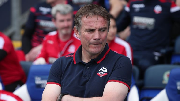 Bolton manager Phil Parkinson resigned earlier this month