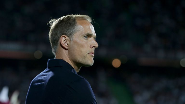 PSG boss Thomas Tuchel looks on during his side's 2-0 win at Metz