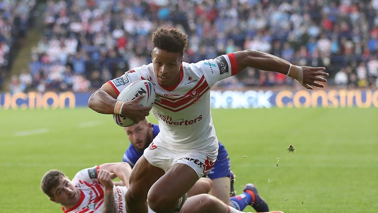 Regan Grace got St Helens' first try of the match at Leeds