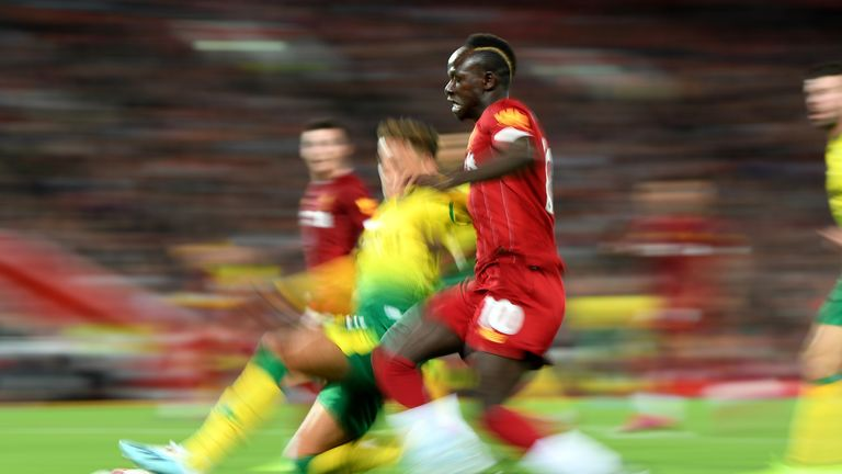 Sadio Mane came on for Liverpool against Norwich having had just two weeks off