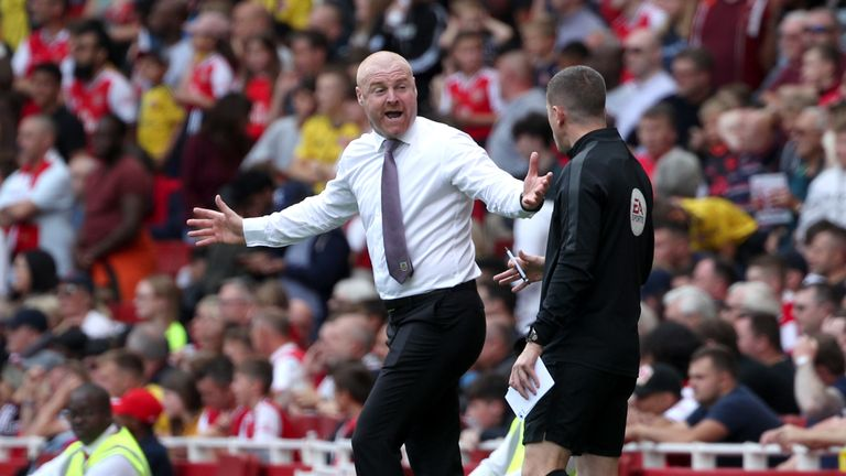 Sean Dyche said his complaint was 'not specific to Arsenal'