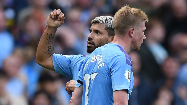 Manchester City's Sergio Aguero and Kevin De Bruyne feature on the shortlist