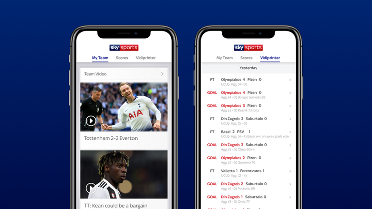Download the Football Score Centre app - goals and highlights at your fingertips!