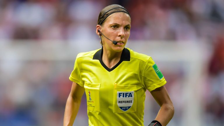 Stéphanie Frappart was the first female referee to take charge of a major UEFA men's match