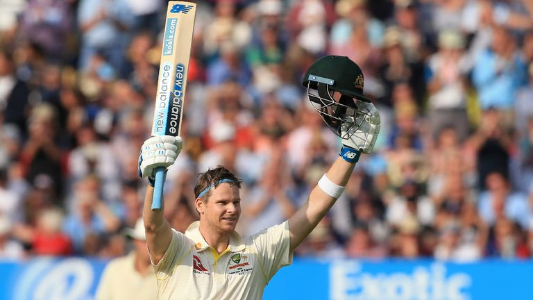 Steve Smith scored a century for Australia on day one of the first Ashes Test