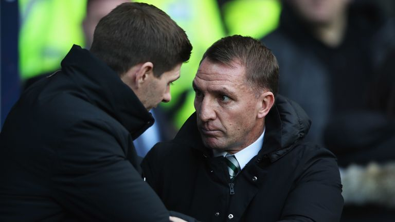 Rodgers up against one of his former players in Steven Gerrard last season