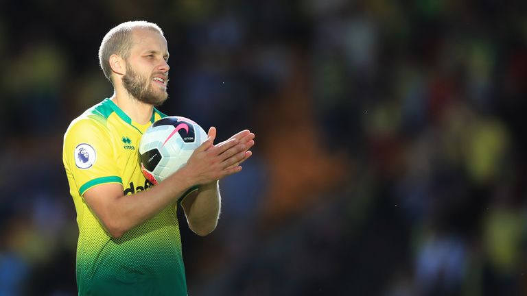 Pukki's movement off the ball has impressed Merson