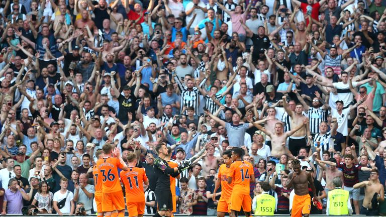 Newcastle's win over Tottenham was their first of the season after losing their opening two matches