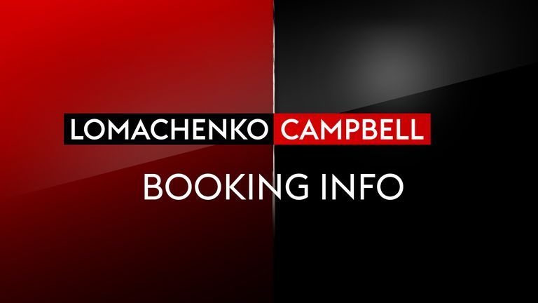 Lomachenko vs Campbell: All the timing, pricing and booking details for Sky Sports Box Office event