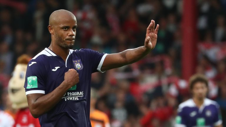 Kompany has played in all four of Anderlecht's league games so far this season