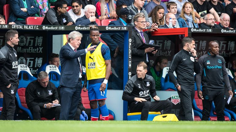 Zaha has reacted maturely to his failed exit from Selhurst Park, says Roy Hodgson