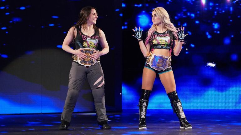 Alexa Bliss and Nikki Cross are the current women's Tag Team champions