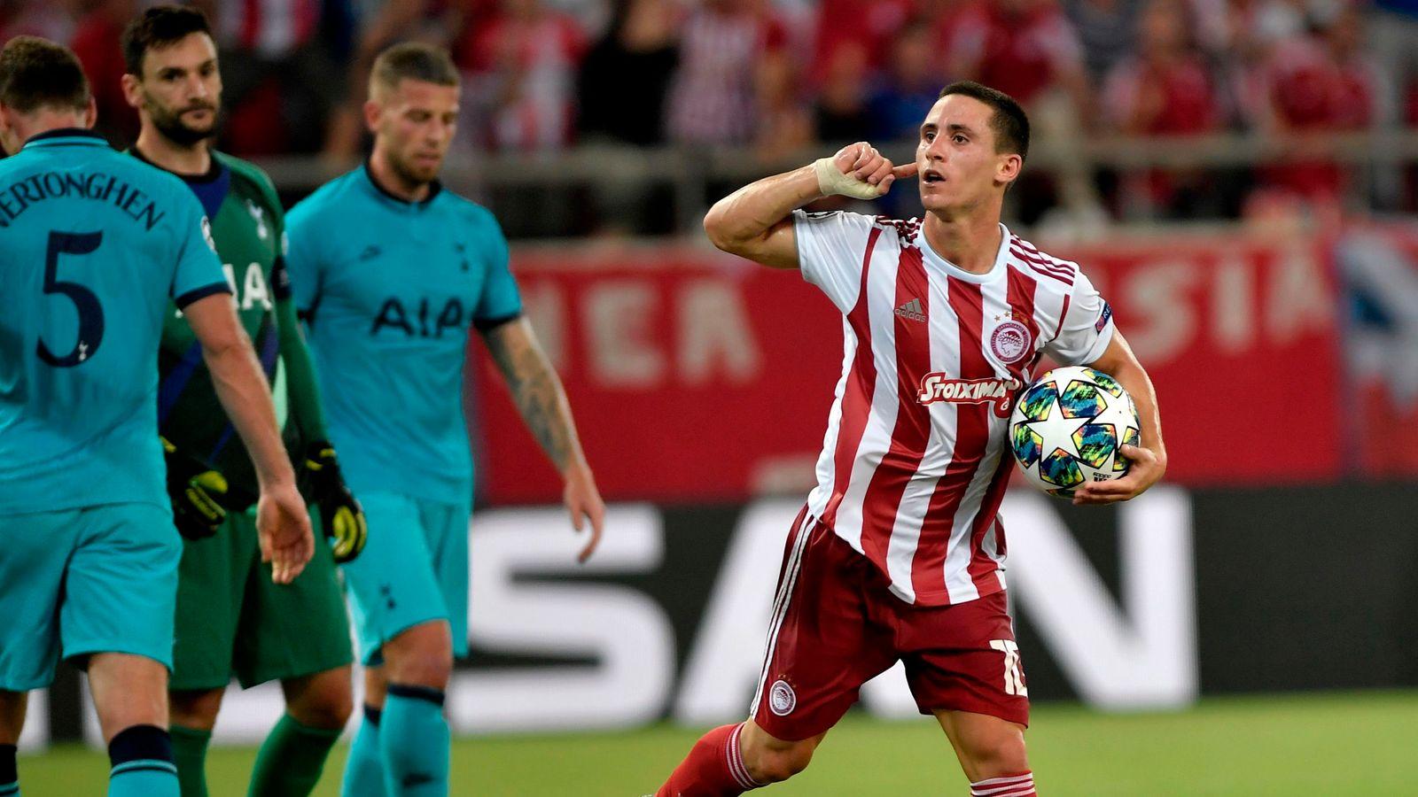 Olympiakos 2-2 Tottenham: Spurs throw away two-goal lead in Greece