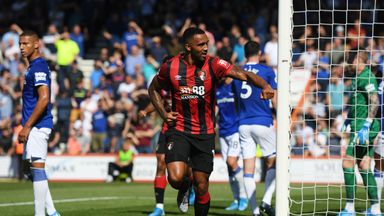 Callum Wilson celebrates as he scores Bournemouth's first goal