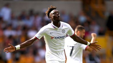 Tammy Abraham of Chelsea celebrates after scoring his team's second goal