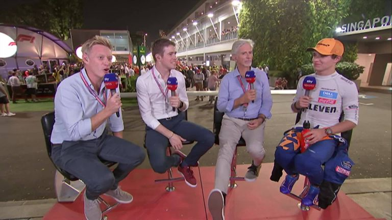 Lando Norris joins Simon Lazenby, Paul di Resta and Damon Hill after finishing 7th in the Singapore GP.