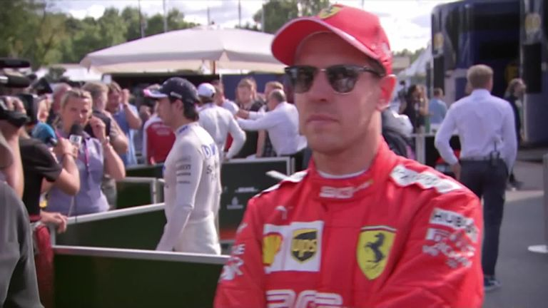Sebastian Vettel reflects on a disappointing day for him as he finished 13th in Monza