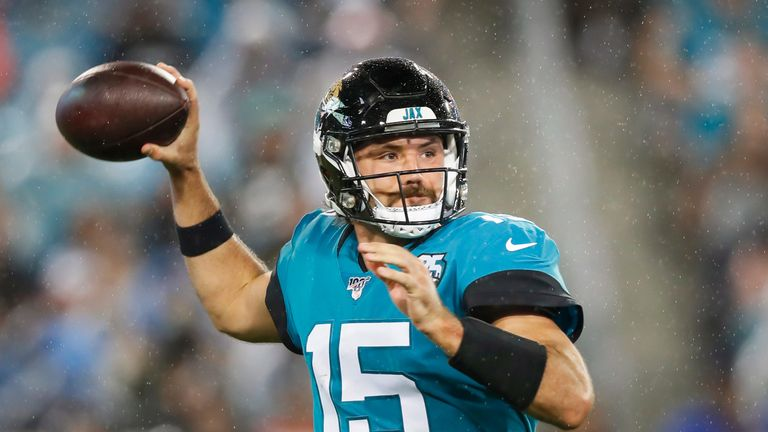 Gardner Minshew fires a pass during the Jaguars' Week 3 win over the Titans