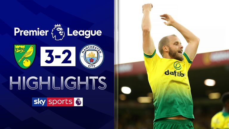 FREE TO WATCH: Highlights from Norwich's 3-2 win over Manchester City.