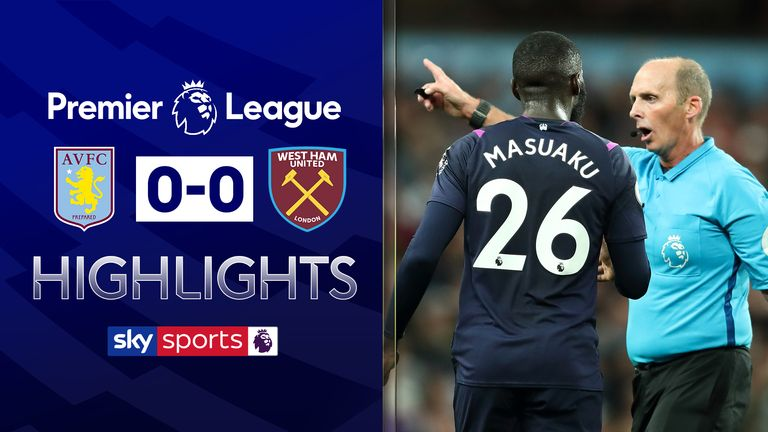 FREE TO WATCH: Highlights from West Ham's draw at Aston Villa
