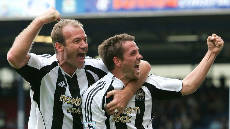 Alan Shearer and Michael Owen were team-mates at Newcastle United during the 2005-2006 campaign