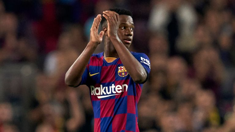 Ansu Fati scored again for Barcelona