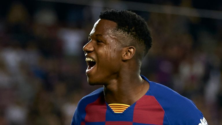 Teenager Ansu Fati has shone for Barcelona this season