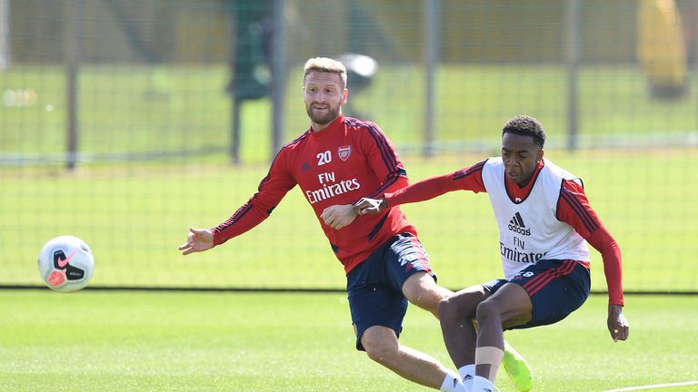 Shkodran Mustafi has been restricted to only training with the Arsenal first-team squad this season