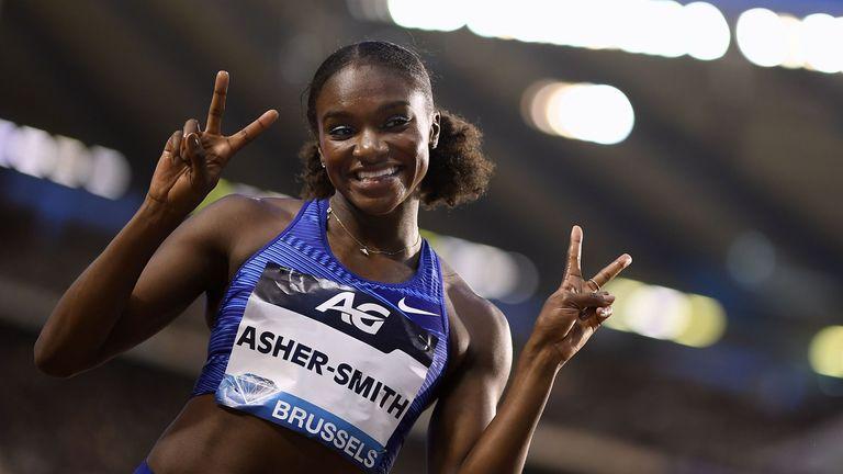 Dina Asher-Smith ran a season's best 10.88secs in Brussels