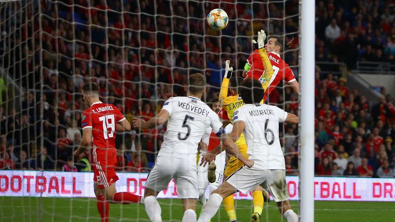 Wales had to rely on a late Gareth Bale header to beat Azerbaijan 2-1 in Cardiff